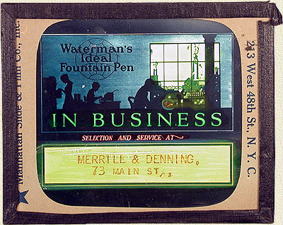 Waterman's Magic Lantern Slide