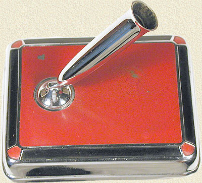 Sheaffer Chrome, Red and Black Desk Base