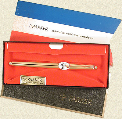 Parker Gold Plate 75 Felt Tip/Roller Ball in Box